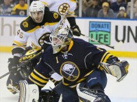 Jhonas Enroth was traded from Buffalo to Dallas, but will the goalie get a chance to push Kari Lehtonen and steal some starts? (Jerome Davis/Icon SMI)