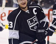 Dustin Brown and the Kings were all smiles as they won their second straight game (Photo by Chassen Ikiri).