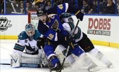 Backes to the Future; Blues Blank Sharks, 3-0, Tie Series 1-1