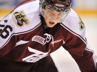 Alan Quine of the Peterborough Petes.  (Photo: Terry Wilson/OHL Images)
