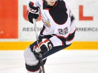 Brandon Saad recorded 38 penalty minutes in 44 games, all the while scoring 76 points.  (OHL Images)