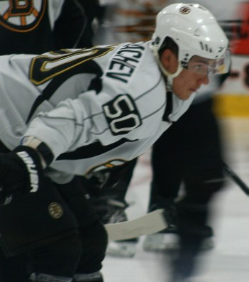 Alex Khokhlachev looks-on at the Boston Bruins 2012 Development Camp. (Photo: Amanda Mand)