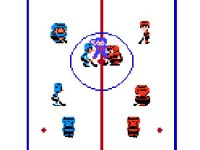 screen shot from 1988's Ice Hockey for the NES