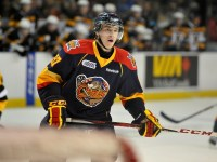 Connor McDavid is the consensus number one prospect for the 2015 NHL Draft early in the season. (Aaron Bell/OHL Images)
