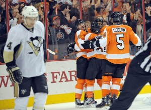 Flyers fans continue to pack the arena (Eric Hartline-USA TODAY Sports)