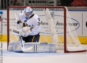 Goaltender Jake Allen was the Blues' 2nd round pick (34th overall) in the 2008 draft (TSN Photography)
