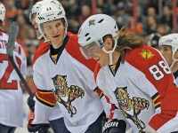 Mueller was Jonathan Huberdeau's winger for most of the 2012-13 season (Eric Hartline-USA TODAY Sports)