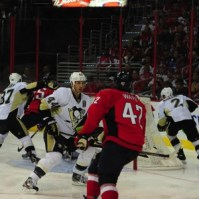 Brooks Orpik has noticed a major improvement in the Penguins' defensive zone play. (Tom Turk/THW)