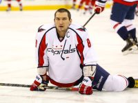Alex Ovechkin may be somewhere in this interview with Caps writer Ed Frankovic. - Photo By Andy Martin Jr