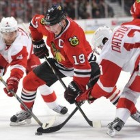 Pavel Datysuk won the Frank J. Selke Trophy in '08, '09, and '10.(Rob Grabowski-USA TODAY Sports)