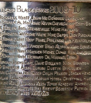 Blackhawks Stanley Cup Engraving