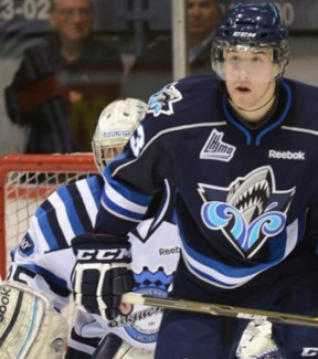 Frederik Gauthier is the size of an oak tree but skates far, far better (Rimouski Oceanic)