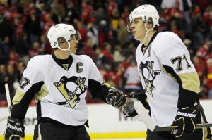 Crosby and Malkin have been taking turns leading the Pens to victory.  (Geoff Burke-USA TODAY Sports)
