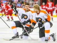 Philadelphia Flyers - Zac Rinaldo and Jakub Voracek - Photo by Andy Martin Jr