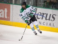 Jordan Schmaltz is headed into his junior year at UND (Eric Classen, UND Sports)