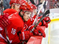 Carolina Hurricanes center Elias Lindholm - Photo Credit:  Andy Martin Jr