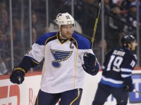 Backes scored the first goal for the Blues on Thursday (Bruce Fedyck-USA TODAY Sports)