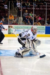 Hershey Bears goaltender Philipp Grubauer. (Annie Erling Gofus/The Hockey Writers)