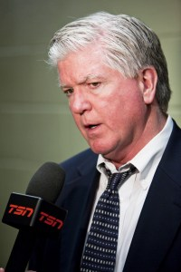 Can the Flames right the ship under Brian Burke? (Wikipedia Commons)