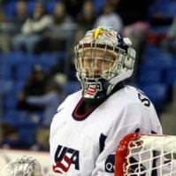 U.S. goaltender Molly Schaus, who made 17 saves in a 4-1 victory. (SaraMelikian/Flickr)