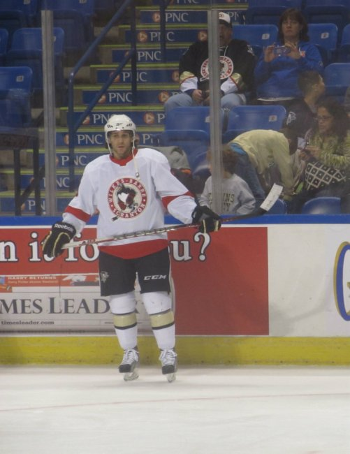 Brian Gibbons with Wilkes-Barre/Scranton prior to his November 18 call-up. (Alison Myers/THW)