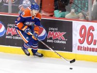 Oscar Klefbom is only 2% owned in Yahoo! leagues, but his value could increase with a Jeff Petry trade out of Edmonton. (Steven Christy/OKC Barons)