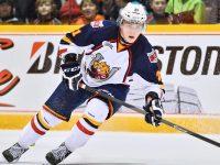 Brendan Lemieux, son of Claude Lemieux, is 2014 NHL Draft eligible (Terry Wilson /OHL Images)