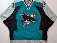 The Sharks' 1997 third jersey had just the right blend of colors and design. (Photo Credit: Game Worn Auctions)