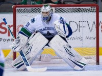 Eddie Lack and Jacob Markstrom will be asked to hold down the fort while Ryan Miller recovers from a lower-body injury. (Jerome Miron-USA TODAY Sports)