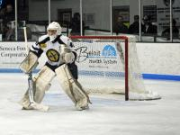Logan Halladay had a spectacular season with the Janesville Jets and found himself with the no. 16 overall CSS ranking out of all ranked North American goalies. (Janesville Jets/NAHL)