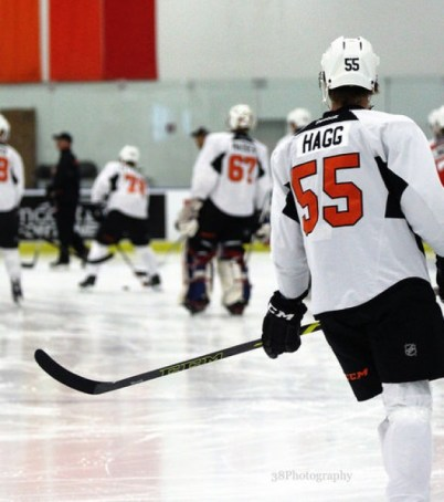 Robert Hagg at Flyers development camp. [photo: Amy Irvin]