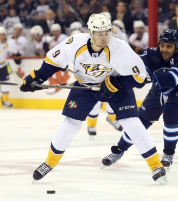 (Bruce Fedyck-USA TODAY Sports) Filip Forsberg has all the talent in the world but hasn't been able to secure an NHL roster spot to date. If new Nashville Predators coach Peter Laviolette gives him that opportunity in 2014-15, Forsberg could emerge as a Calder candidate rather than a forgotten prospect.