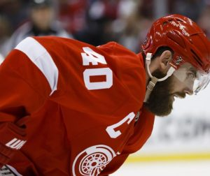 Detroit Red Wings forward Henrik Zetterberg is well-known for his impressive playoff facial hair. (Rick Osentoski-USA TODAY Sports)