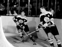 Wayne Cashman, right, fired two goals for the Generals