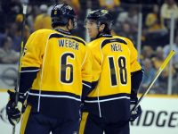 James Neal & Shea Weber (Christopher Hanewinckel-USA TODAY Sports)