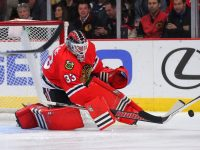 Scott Darling - along with Antti Raanta - have filled some big shoes while Corey Crawford has been recovering from an injury. (Dennis Wierzbicki-USA TODAY Sports)