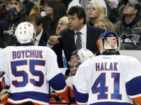 Is Jack Capuano the coach to lead the Islanders on a deep Stanley Cup Playoffs run? That's anyone's best guess right now, and only time will tell if Capuano will be the coach to lead the Islanders to Lord Stanley's Cup. (Charles LeClaire-USA TODAY Sports)