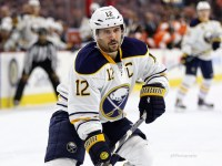 Brian Gionta has been seeing time in Buffalo's top-six - and has been playing a plethora of minutes as of late - so fantasy managers might want to keep a close eye on the forward over the next couple of games that the Sabres play. (Amy Irvin / The Hockey Writers)
