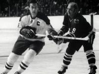 Jean Beliveau and Bobby Hull