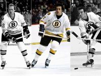 The Bruins' great line of Phil Esposito, Wayne Cashman, Ken Hodge