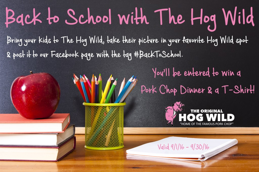 the hog wild back to school