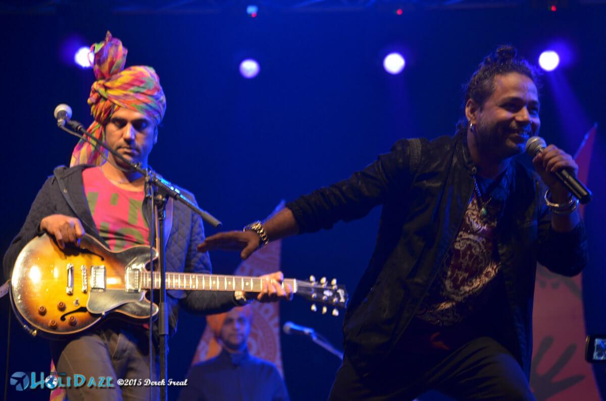 Kailash Kher performing at the Pushkar Camel Fair 2015, part of The Sacred Pushkar event
