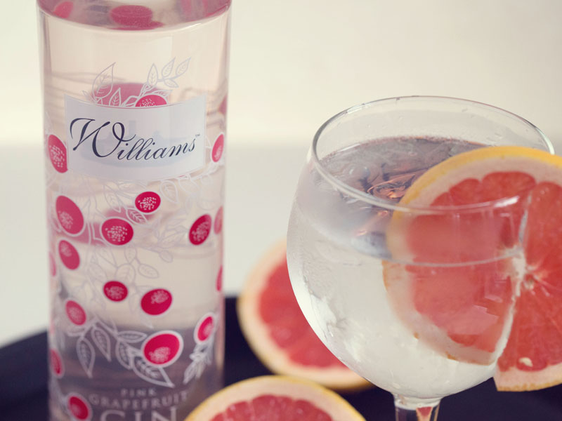 Pink Grapefruit Williams Pink Grapefruit Gin | The Hollies Farm Shop