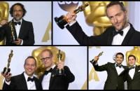 Top: Alejandro González Iñárritu, and Emmanuel Lubezki Bottom, L to R: Jonas Rivera and Pete Docter, Gabriel Osorio-Vargas and Pato Escala