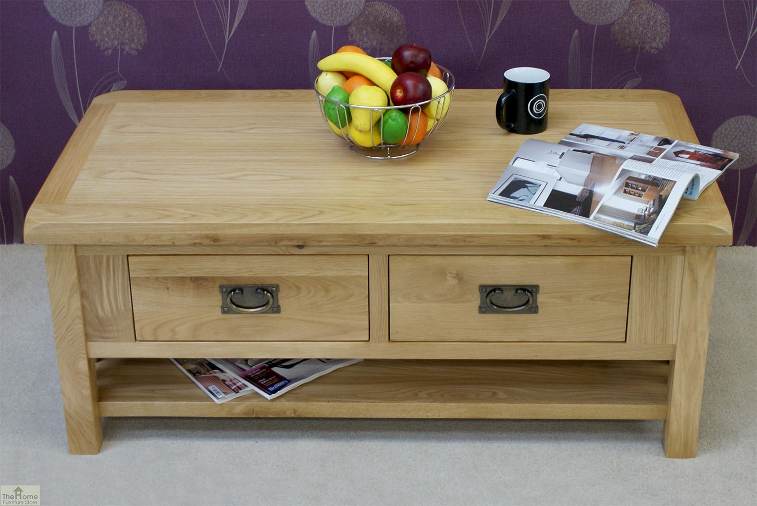 Soft Coffee Table With Storage Farmhouse Oak 2 Drawer Coffee Table The Home Furniture Store