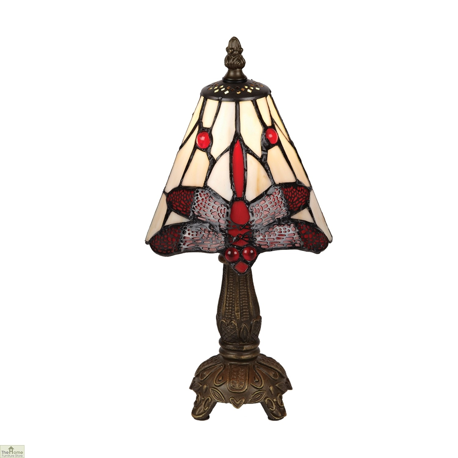 Red Bedside Lamps Red Tiffany Dragonfly Table Lamp The Home Furniture Store