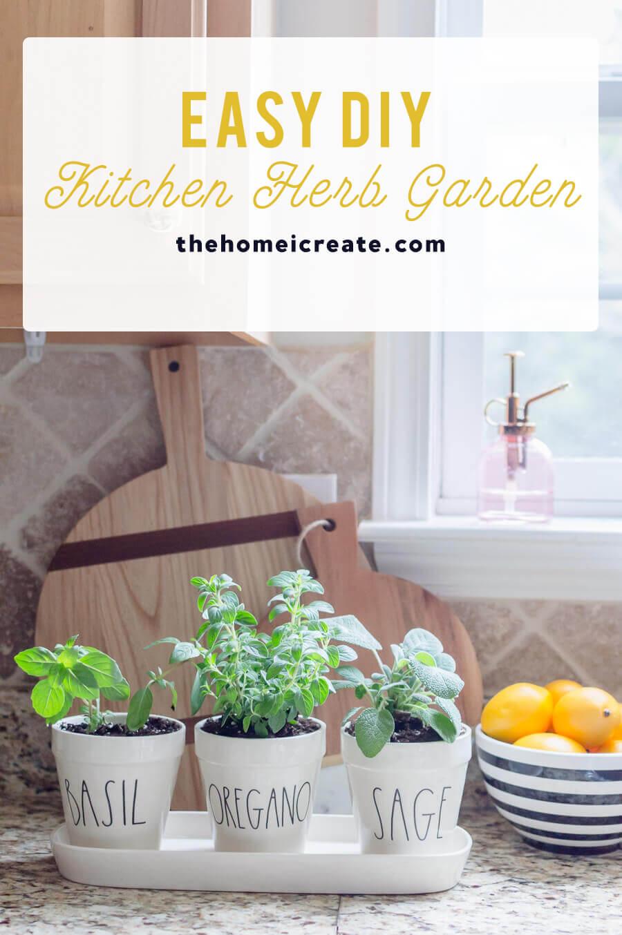 Traditional Easy Diy Kitchen Herb Garden Home I Create Easy Herb Garden Diy garden Easy Herb Garden Ideas