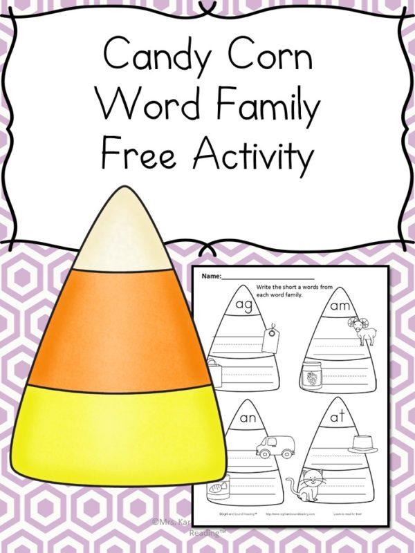 Halloween Phonics Worksheet - The Homeschool Village - phonics worksheet