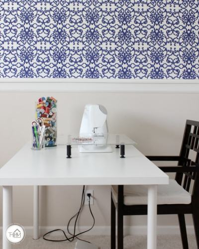 Renter-Friendly Wallpaper Installation - Yes, You Can Install Wallpaper! | The Homes I Have Made