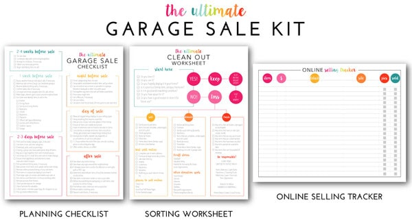 The Ultimate Garage Sale Prep Kit (a Comprehensive Printable Kit